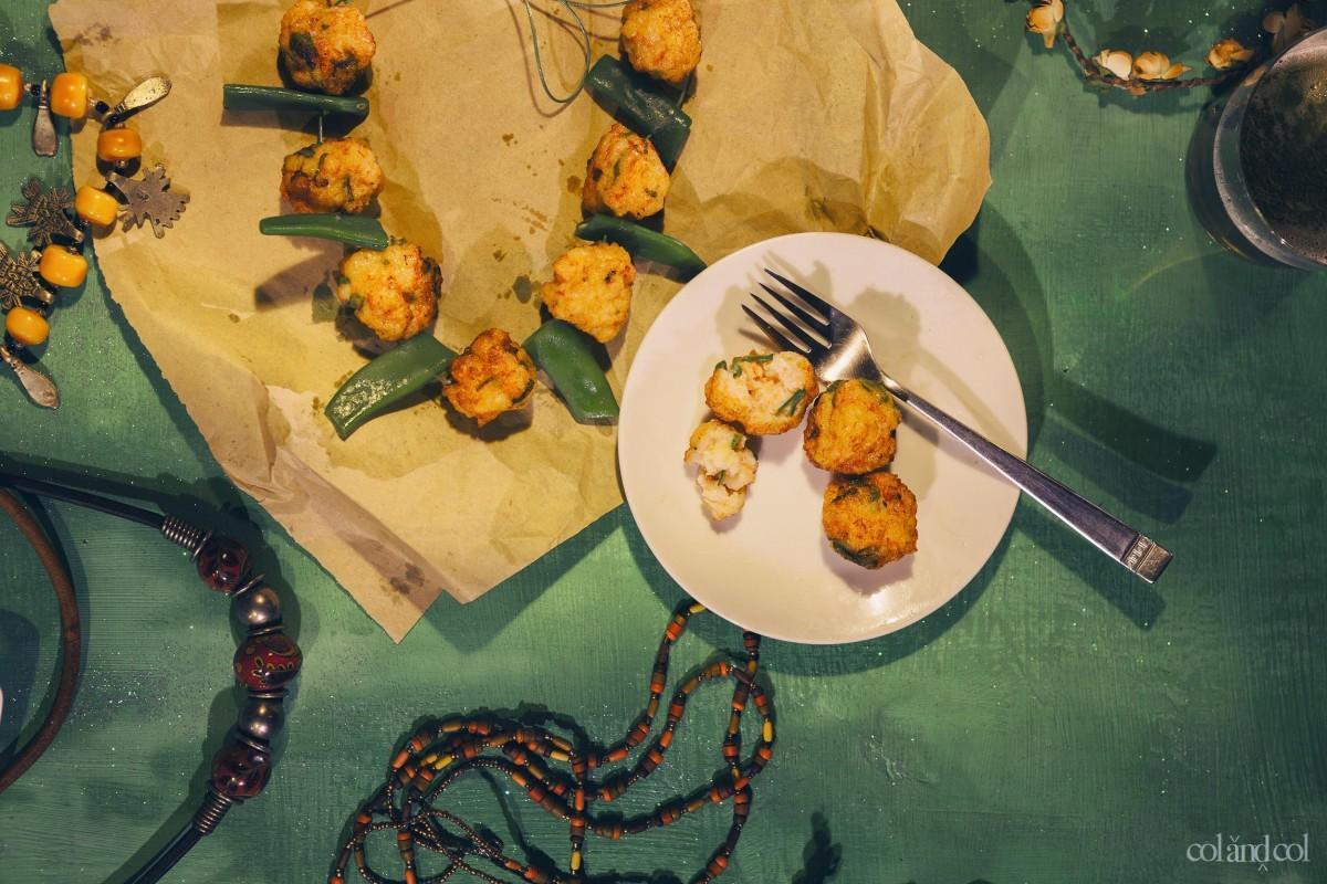 Bocaditos de langostinos con salsa de soja