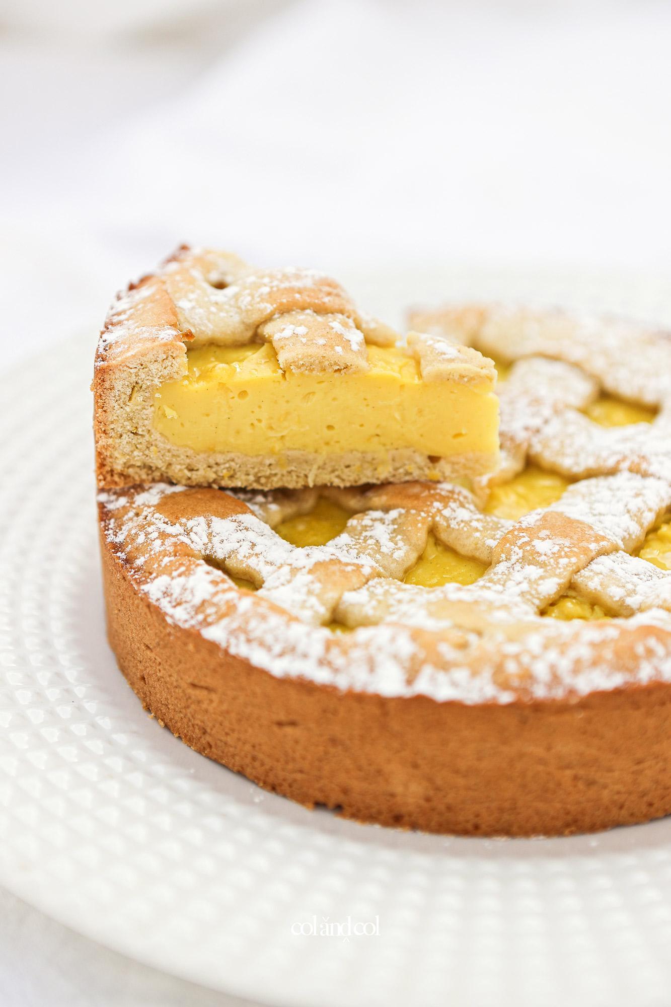 Pastel con crema de limon