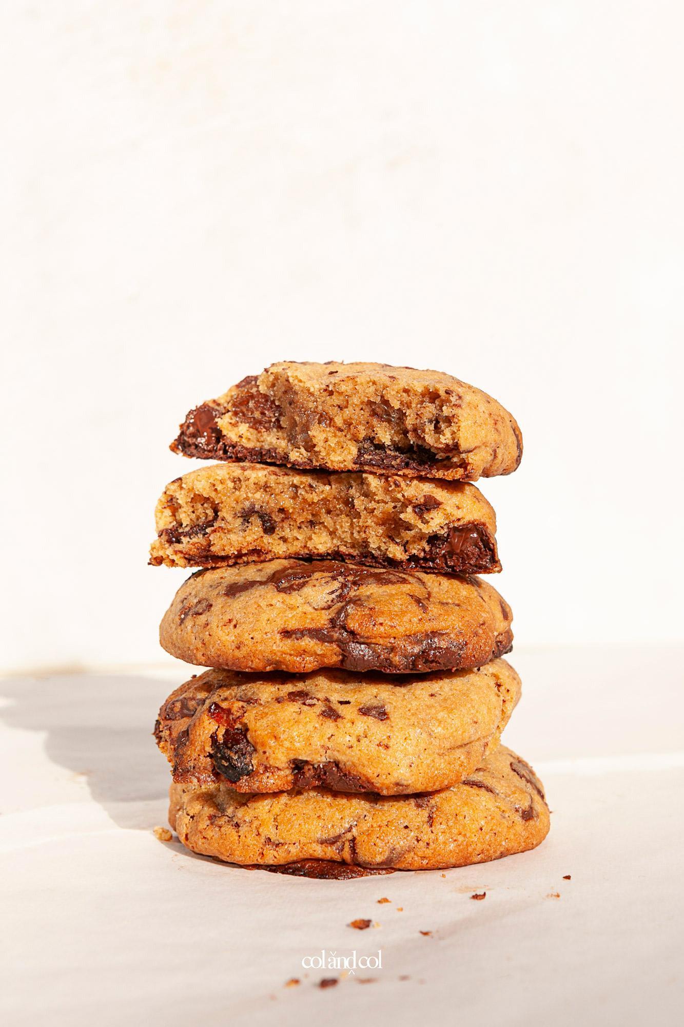 Cookies de chocolate y pasas estilo americano