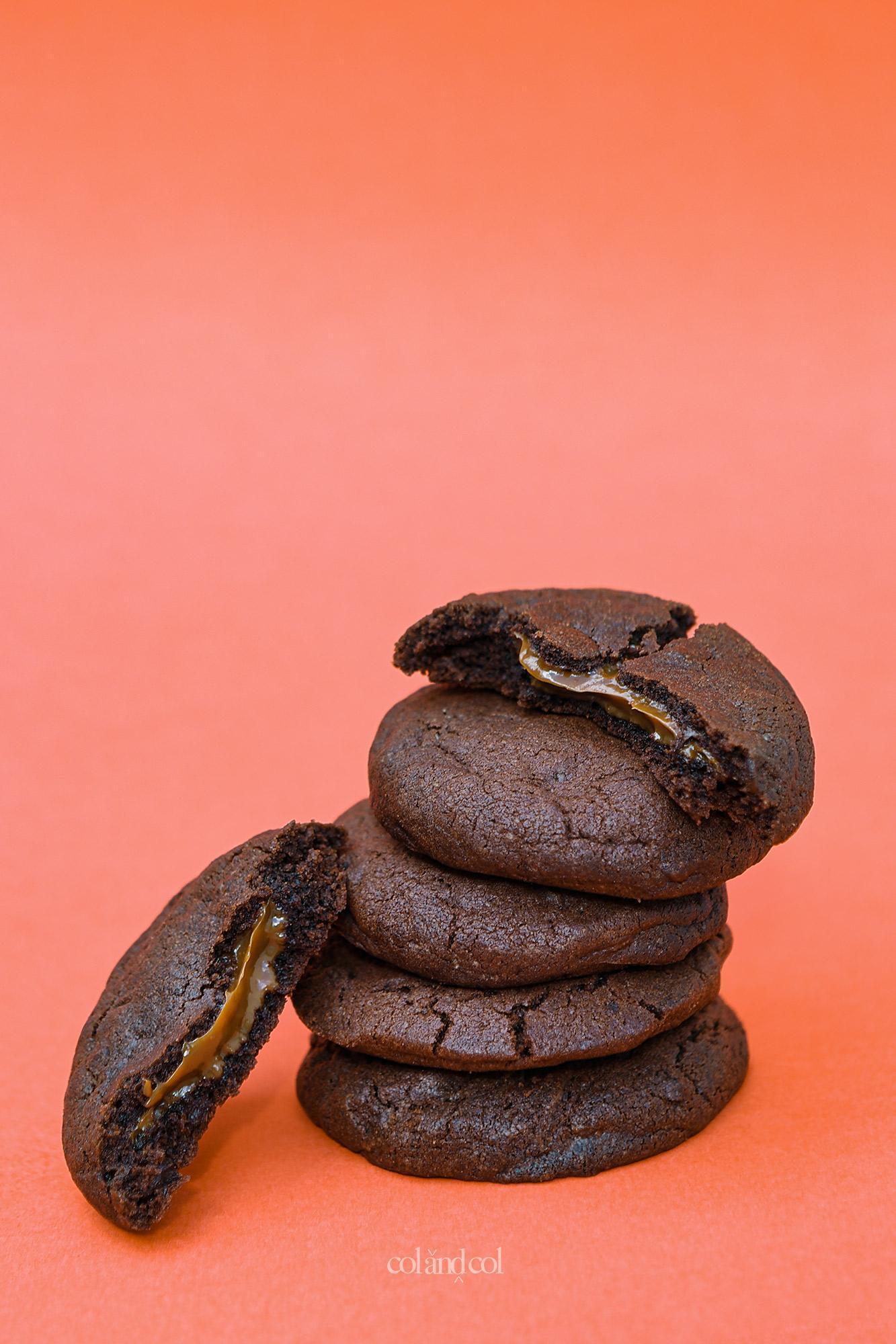 Cookies rellenas con nutella, mermelada, crema de cacahuete o dulce de leche