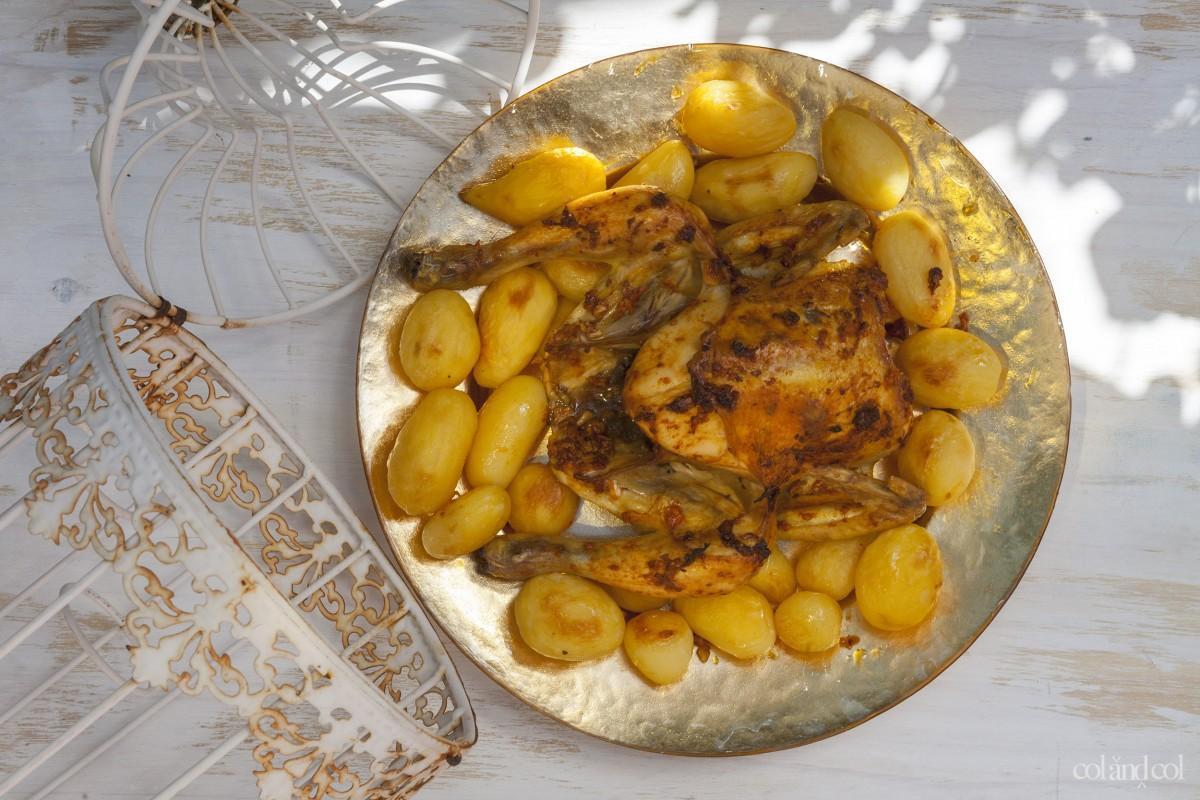 Receta pollo asado a la portuguesa